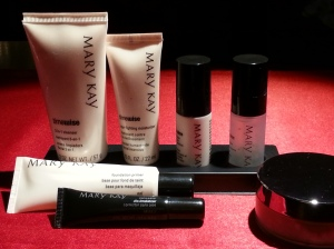Picture of Mary Kay Skincare Products referenced in Steps 1-5.