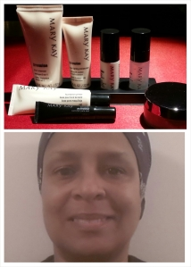 Trial Size TimeWise Miracle Set  and a picture of me without makeup.