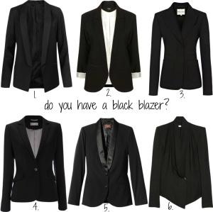 6 Different types of black blazers from Pinterest via Visit glittersgold.com
