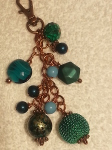 Teal Colored Cane Charm