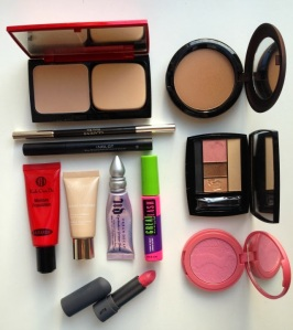 Assorted makeup products
