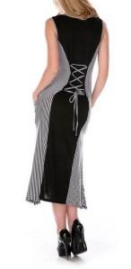 Black & White Striped Pocket Dress