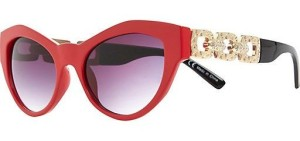 Bright red two-tone cat eye sunglasses us.riverisland.com