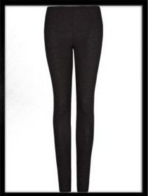 MANGO Essential leggings in black