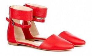 Sole Society - Ankle strap flats - Alyse - Beet