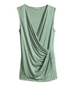 Draped Wrap-Style Top H&M.com