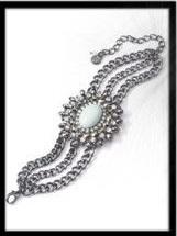 Simply Vera Vera Wang Jet Simulated Crystal and Cabochon Multi-strand Bracelet