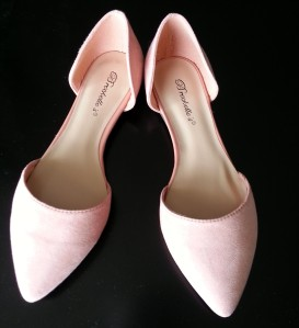 Breckelles Blush Colored dOrsay Flats from www.ModCloth.com