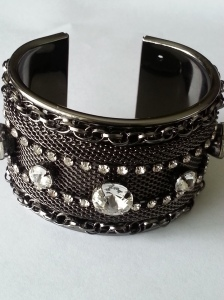 Crystal and Chain Cuff Bracelet www.solesociety.com