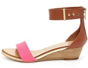 Chinese Laundry Kalifornia Pink and Brown Ankle Strap Sandals from www.lulus.com
