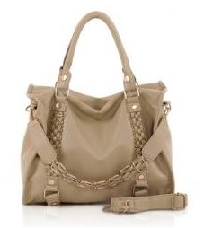 Khaki Colored Stylish Laconic Women's Tote Bag from SammyDress.com