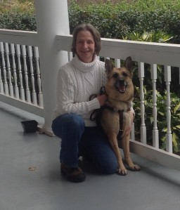 Sue W. Martin With Her Guide Dog Companion