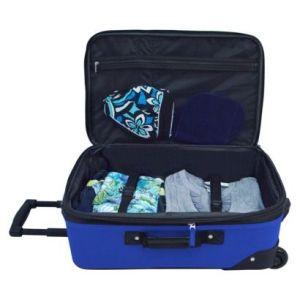 U.S. Traveler Rio 2 pc Expandable Carry-On Luggage Set - Blue