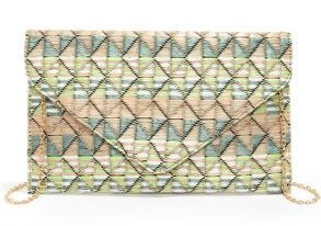 Weave Around Peach Print Clutch from www.lulus.com