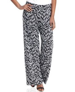 Style & Co Printed Wide-Leg Soft Pants