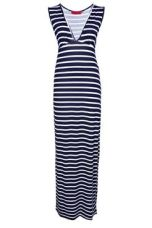 Harriet Plunge Striped Jersey Maxi Dress boohoo.com