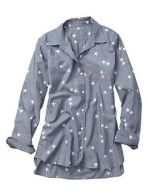 Star print chambray boyfriend shirt Gap