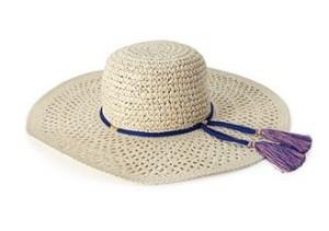 Tasseled Straw Sun Hat FOREVER21