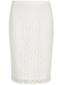 White Daisy Pencil Skirt from Dorothy Perkins