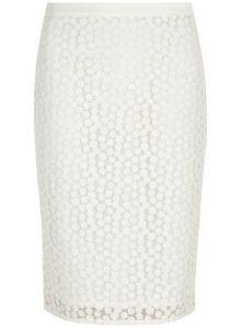 White Daisy Pencil Skirt from Dorothy Perkins