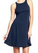 Womens Fit & Flare Ponte-Tank Dresses