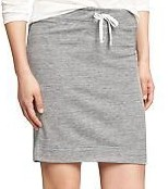 Womens Jersey-Terry Drawstring Pencil Skirts