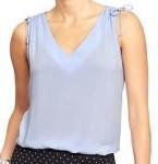 Womens Shoulder-Tie Sleeveless Tops