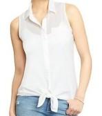 Womens Sleeveless Tie-Top Shirts