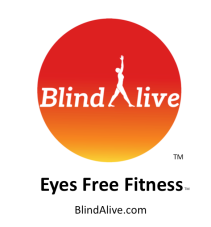 BlindAlive Logo Eyes Free Fitness