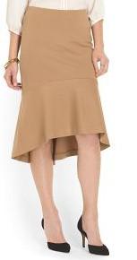 Carmen Marc Valvo Hi Lo Fish Tail Skirt