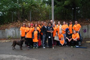 Photo of the 2012 Sight-Saving Avengers Team members for Pittsburgh VisionWalk