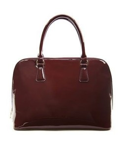 Trending Tuesdays: Seeing Red Faux Patent Leather Satchel FOREVER21