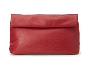 Trending Tuesdays: Seeing Red Forever 21 Faux Leather Roll-Top Clutch
