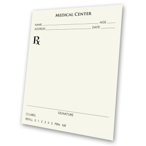 blank prescription pad from Microsoft clipart