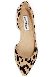 Steve Madden Elusion Leopard Pony Fur D'Orsay Flats Lulus