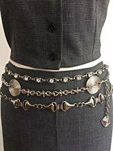Vintage Italian Silver Chain Belts