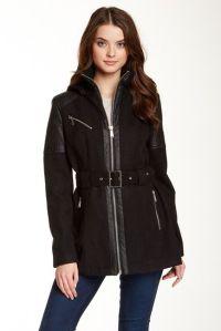 BCBGeneration Detachable Hood Front Zip Coat Nordstromrack