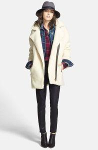 Sam Edelman Asymmetrical Faux Fur Moto Jacket