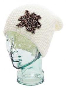 Flower Knit Beanie Shoptiques