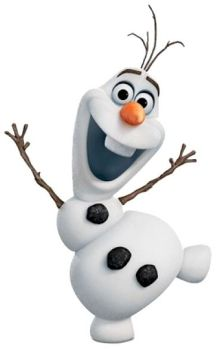 Olaf laughing it up with his arms in the air having a good old time.