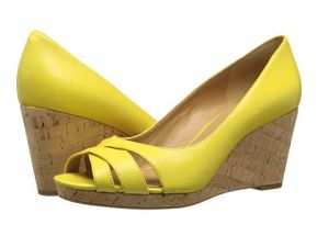 #4 Nine West Jelica Yellow Leather - 6pm