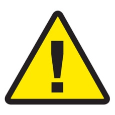 Yellow Danger Sign with Black Exclamation