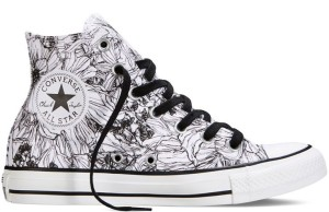 Chuck Taylor All Star Floral Print Black & White High Top