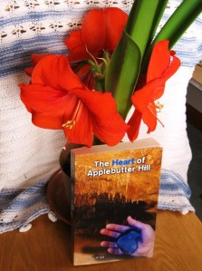 Book: The Heart of Applebutter Hill with multiple-amarilis-blooms courtesy of Donna Hill