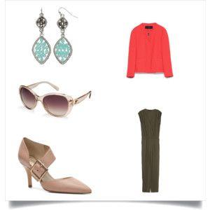 #1 Khaki and Coral