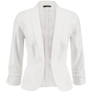 Maurices White Open Front Blazer With Faux Pockets