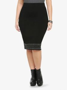 Studded Midi Pencil Skirt | Torrid