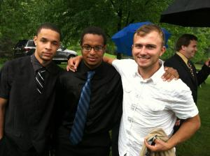 Photo from left to right is my youngest son Arian, Devon is in the center and their frientd Ivan