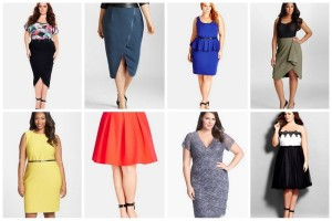 City Chic High/Low Wrap Skirt | Mynt 1792 High Waist Moto Skirt | City Chic Belted Scoop Neck Ponte Peplum Dress | Mynt 1792 Cascade Drape Crepe Skirt | Calvin Klein Belted Textured Jersey Sheath Dress | City Chic 'Girly Fun' A-Line Skirt |Marina Tiered Lace Dress | City Chic 'Sweetheart' Pleated Strapless Colorblock Party Dress