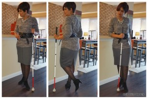 Outfit #3 - (Tri-photo collage) Gray skirt with black ankle boots